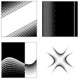 Halftone squares Stock Photo