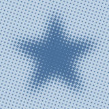 Halftone star Royalty Free Stock Photos