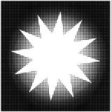 Halftone star background Royalty Free Stock Photography