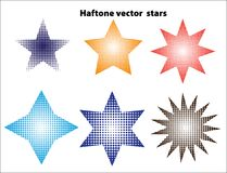 Halftone stars Royalty Free Stock Photo