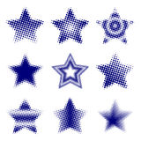 Halftone Stars Stock Photography