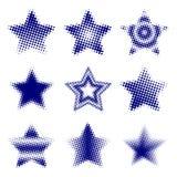 Halftone Stars Stock Photography