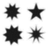 Halftone stervormen Stock Foto's
