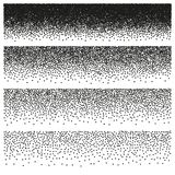 Halftone and stipple effect. EPS 10 vector. Halftone and stipple effect isolated on white. And also includes EPS 10 vector Royalty Free Stock Images