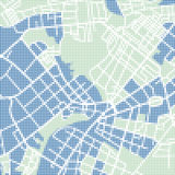 Halftone street map Royalty Free Stock Photography