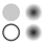 Halftone style set Stock Photos