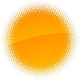 Halftone sun. Royalty Free Stock Photos