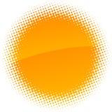 Halftone sun. Royalty Free Stock Photos