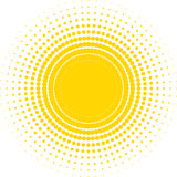 Halftone sun Stock Images