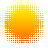Halftone Sun. Royalty Free Stock Photo
