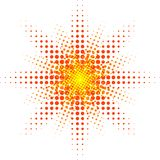 Halftone sun. Stock Photography