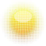 Halftone sun. Stock Images