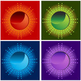 Halftone Sun Energy Icons Stock Image