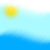 Halftone - the sun under water Royalty Free Stock Image