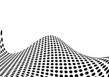 Halftone swell. Illustrated ocean swell made out of halftone dots Stock Images