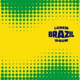 Halftone tło używać Brazylia flaga kolory Fotografia Royalty Free