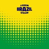 Halftone tło używać Brazylia flaga kolory Zdjęcie Royalty Free