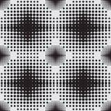 Halftone tła bezszwowy wzór Zdjęcia Stock