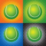 Halftone tennis balls Stock Image
