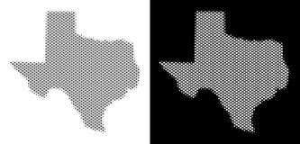 Halftone Texas Map royalty-vrije illustratie