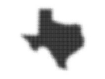 Halftone Texas map Stock Photography