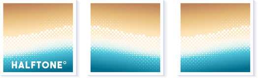 Halftone Texture Vector Wave Illustration Pack Royalty Free Stock Photography