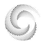 Halftone textuur van de puntencirkel Stock Foto