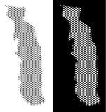 Halftone Togo Map royalty-vrije illustratie