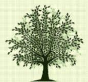 Halftone tree Royalty Free Stock Photos