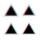 Halftone triangle design elements. Halftone retro background elements template vector illustration