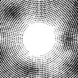 Halftone vector distorted dots.Halftone effect. Background concept. Vignette texture.  Dots isolated on the white background. Stock Photography
