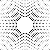 Halftone vector distorted dots.Halftone effect. Background concept. Vignette texture.  Dots isolated on the white background. Royalty Free Stock Photos