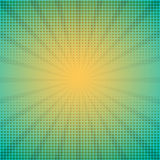 Halftone vector illustration with rays. Comic background. Halftone vector illustration with rays Royalty Free Stock Photo