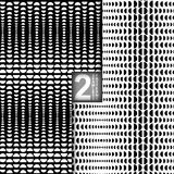 Halftone Vector Seamless Patterns, Set of 2 Stock Photos