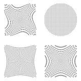 Halftone vector set. stock illustration
