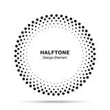 Halftone vectorcirkelkader stippelt embleemembleem, ontwerpelement voor medisch, behandeling, schoonheidsmiddel Stock Fotografie
