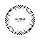 Halftone vectorcirkelkader stippelt embleemembleem, ontwerpelement voor medisch, behandeling, schoonheidsmiddel Royalty-vrije Stock Afbeeldingen