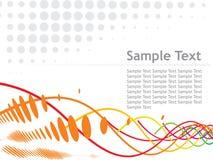 Halftone vectorillustratie van de steekproeftekst Royalty-vrije Stock Fotografie