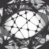 Halftone vectorpatroon Stock Afbeelding