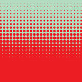 Halftone vintage vector background with bright red vivid color. Royalty Free Stock Photography
