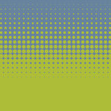 Halftone vintage vector background with green and blue color. Stock Photography