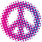 Halftone Vredessymbool Stock Afbeelding