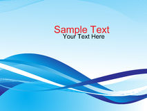 Halftone wave  concept and sample text Stock Photo