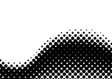 Halftone wave curl Stock Photo