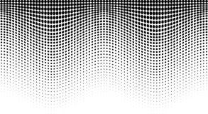 Halftone wave pattern. Horizontal background using halftone wavy dots texture. Vector illustration.  vector illustration