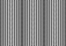 Halftone Waves Abstract Geometric Vector Seamless Pattern. Royalty Free Stock Image