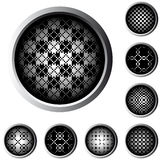 Halftone Web Buttons Royalty Free Stock Photos