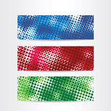 Halftone web header Stock Photo
