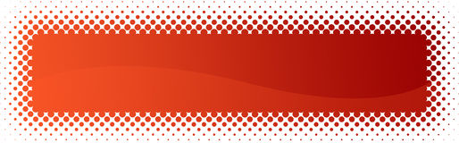 Halftone web header / banner Stock Images