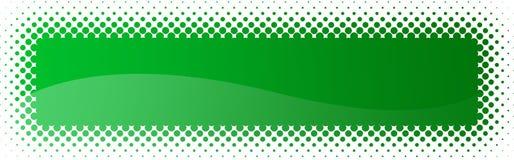 Halftone Webkopbal/banner Stock Foto